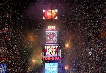 New Years Balldrop am New York Times Square