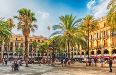 Restaurants am Placa Reial in Barcelona