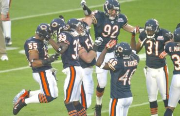 Chicago Bears Spieler zelebrieren Touch Down